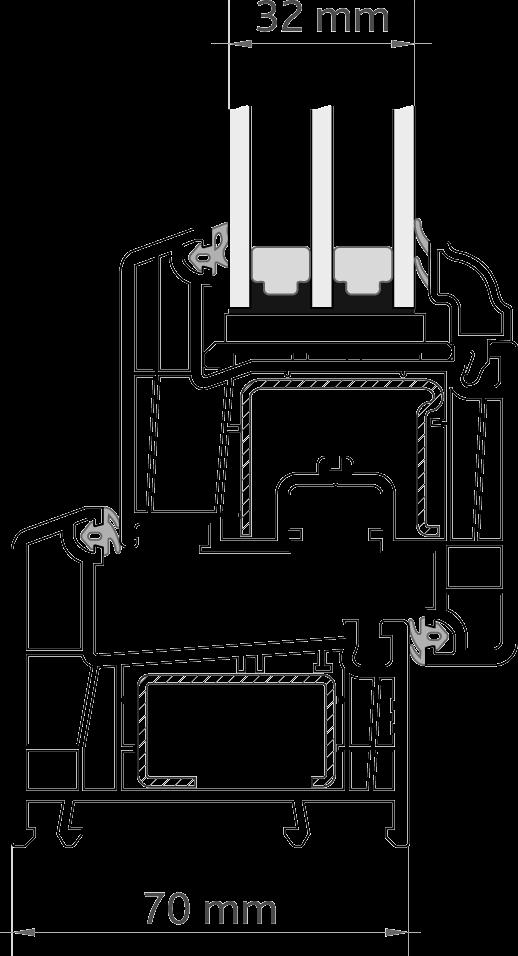 CONTINENT™ 60 глубина 70 мм
