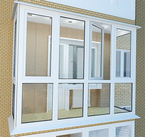 Теплое остекление балконов и лоджий пластиковыми окнами по с.