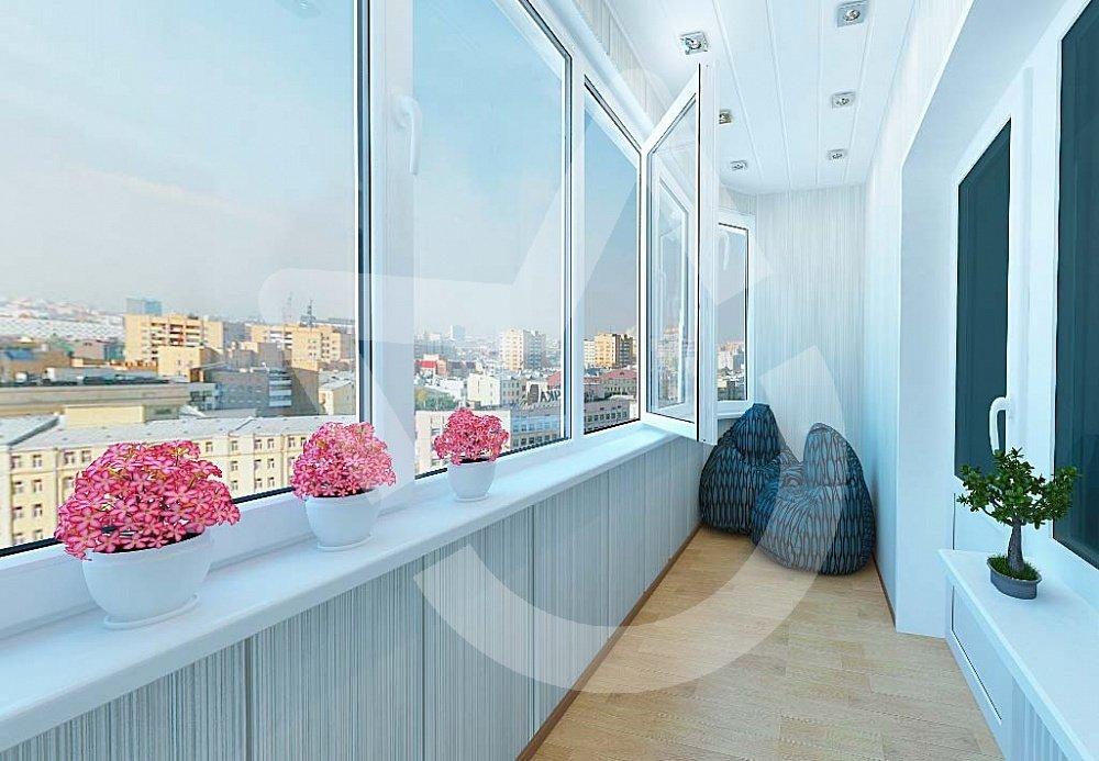 "Отделка балконов и лоджий от компании ""московские окна"" - вн."